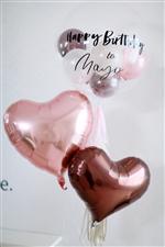 【名前入れ】コロコロPink&Choco/ Happybirthday to NAME