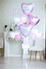 【大型】【結婚式 電報】HPWDG 幸せピンクダマスク