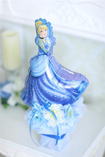 【電報 結婚式 】ディズニープリンセス「シンデレラブルー」 卓上タイプ