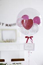 【結婚式 電報 送料無料】コロコロHeart&フューシャピンク