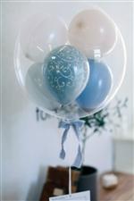 【結婚式 電報 送料無料】コロコログレイッシュブルー【会員価格3300円】