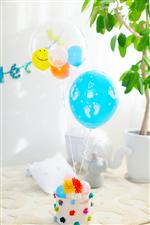 【出産祝い ベビーシャワー】プチペハー バック付おむつケーキ&バルーン