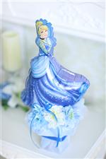 【誕生日 キャラクター バルーン】ディズニープリンセス「シンデレラブルー」 卓上タイプ