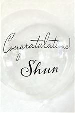 バルーン ステッカー / CongratulationsNAME
