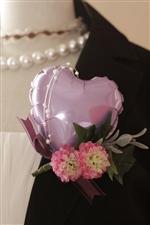 バルーンコサージュ/Lavenderハート