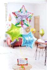 【合格、卒業、入園・入学の祝電バルーン】Congrats!STAR☆☆☆