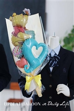 【入園・卒園・入学・卒業】プーさんと一緒にハートバルーン花束 BIG