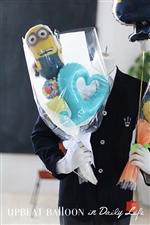 【入園・卒園・入学・卒業】ミニオンと一緒にハートバルーン花束 BIG