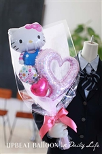 【入園・卒園・入学・卒業】キティと一緒にハートバルーン花束 BIG