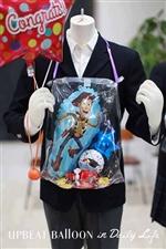 【入園・卒園・入学・卒業】キャラクターバルーンレイ ウッディ〜バルーンの首飾り〜 おかし付