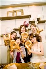 【結婚式 電報】HAPPY Gold M