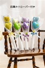 幸せの 四葉のクローバー 付き thank youバルーン花束 全4色