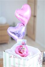 【結婚式 電報】 早春HEART 結婚式に贈るバルーン電報