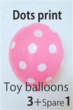 【ゴム風船】Toy Balloon ドットローズ 3+1 個入り