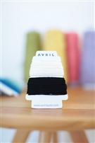【AVRIL】cottonコード/ホワイト×クロ