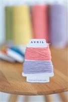 【AVRIL】cottonコード/ピーチ×ラベンダー