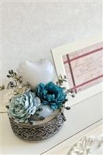 【結婚式 フラワー電報 送料無料】シャビーシック ウエディングBox/ブルー