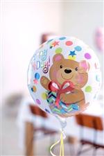 【誕生日  バルーン】ハッピーバースデーベアギフトAG17