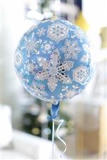ブルー&ホワイトスノーフレークAG17