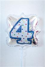 「4」ナンバーキャンドルBLT18