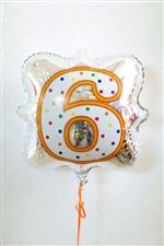 「6」ナンバーキャンドルBLT18