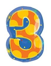 18インチナンバーバルーン「3」