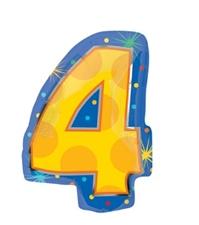 18インチナンバーバルーン「4」