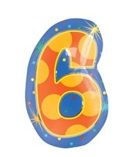 18インチナンバーバルーン「6」