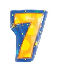 18インチナンバーバルーン「7」