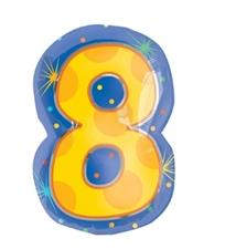 18インチナンバーバルーン「8」