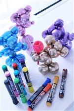 バルーンアートに目や口を描く油性ペン 乾きまペン